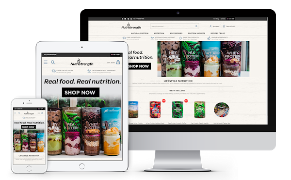 Nutristrength Health and Lifestyle Ecommerce